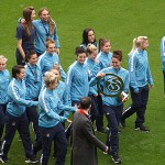 The MCFC Women with the cup