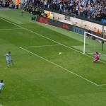 Aguero spot kick x3